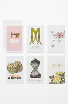 Thanks For Your Support Note Cards (Set of 6) available at #Nordstrom