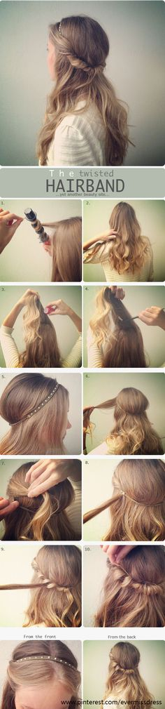 The twisted hair band. What kind of tricks do you like to do with your hair?