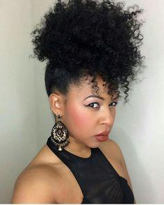 Pin by Kieshona George on Hair in 2018 Natural Hair Ponytail, 4b Natural Hair, Natural Hair Styles, Natural Girls, Afro Hair Inspiration, Hair Inspo, Plait Styles, Weave Styles, Ponytail Styles