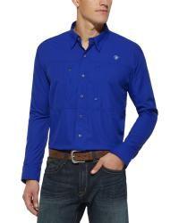 Ariat Blue VentTek Long Sleeve Shirt - Sheplers