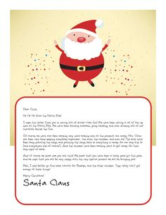 Easy free letter from santa magical package pinterest santa easy free letters from santa customize your text and design and create a unique santa letter your child will love spiritdancerdesigns Choice Image