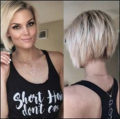 - Krissa Fowles 💕 - ✨Current photo of the back of my hair ✨ wearing a Hair Styles 2016, Medium Hair Styles, Short Hair Styles For Round Faces, Medium Curly, Pretty Hairstyles, Bob Hairstyles, Short Hairstyles For Women, Choppy Bob Haircuts, Short Hair Cuts For Women