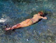 Desnudo en la playa de Portici - Fortuny (Spanish, 1838-1874)
