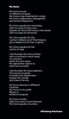 What a moving poem from a South African student named Nthateng. What do you think? #ONE #Africa #Poetry