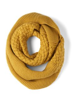 Yellow Brick Cold Scarf, approximately 48 inches in circumference, 14 inches in width. Fabric provides stretch.