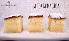 La torta magica: una dolcissima torta che racchiude in sè una magia: da un unico composto nascono tre strati di dolcezza infinita!