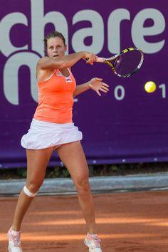 7/11/14 Danka Kovinic upset #4-Seed Karin Knapp in the 2nd rd of the Bucharest Open.
