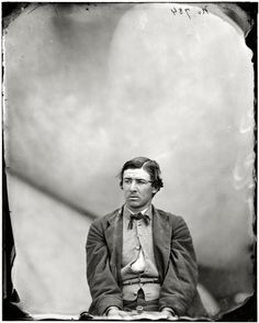 """April 1865. """"Washington Navy Yard, David. E. Herold, Lincoln assassination conspirator."""" This 22-year-old accomplice of John Wilkes Booth was executed by hanging on July 7, 1865. Glass negative by Alexander Gardner"""