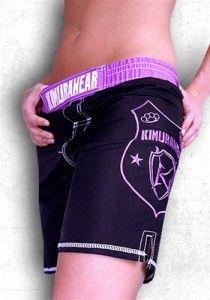 Kimurawear Women's MMA Shorts - Pro Series (Black)