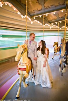 Glen Echo Park Wedding. Amusement park wedding. Maryland. www.blinkdc.com