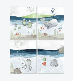 Hey, I found this really awesome Etsy listing at https://www.etsy.com/listing/293313695/nautical-nursery-set-of-4-art-prints