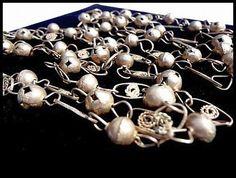 Vintage Necklace Silver Copper Bead Link by BrightgemsTreasures, $24.50