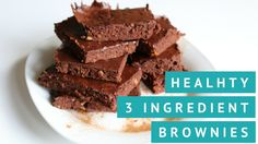 Healthy paleo and vegan-friendly brownies with only 3 ingredients