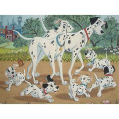 In 101 Dalmatians, all 101 dalmatians have a combination of about 6,469,952 spots!