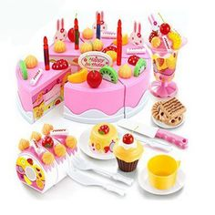 Birthday Cake DIY Model Pretend Play toys for Kids,Early Educational Classic Toy Pretend Play Kitchen Food Plastic Toys Play Kitchen Food, Pretend Play Kitchen, Play Food Set, Pretend Food, Buy Birthday Cake, Happy Birthday, Fruit Birthday, Diy Birthday, Bolo Diy