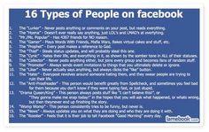 some facebook personalities