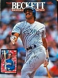 JUAN GONZALEZ ~ SIGNATURE ON BECKETT FRONT COVER ~~ FREE SHIPPING ~~