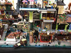 Ninjago City collaborative display at BrickCon 2018 Pavilion Architecture, Lego Architecture, Japanese Architecture, Sustainable Architecture, Residential Architecture, Contemporary Architecture, Lego Ninjago City, Lego Chima, Lego Movie Sets