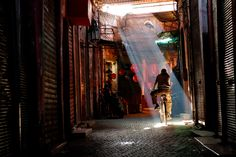 Marrakech Traveler: It was mid-morning and he must have wanted to ride into the light. I was shooting for the ABC TV show Born to Explore when I snapped this photo. (John Barnhardt/National Geographic Traveler Photo Contest)
