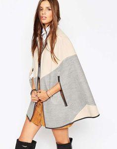 Capas de lana: fotos de los modelos - Capa cuadros Asos