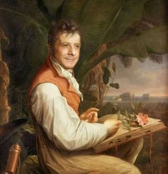 This is a portrait of Alexander von Humboldt, a Prussian naturalist and explorer, painted in 1806 by Friedrich Georg Weitsch Classic Paintings, Weird Pictures, Art Reproductions, Painting, Renaissance Portraits, Art, Naturalist, Art Parody, Portrait