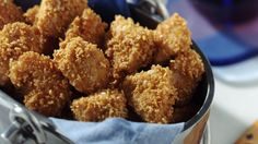 Favourite Chicken Nuggets Recipe (Gluten Free) recipe and reviews - Create a drive-through in your kitchen and serve the best homemade nuggets! Rice Chex cereal is the secret ingredient.