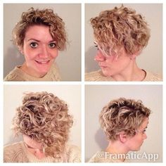 Curly pixie cut, I got my hair cut into a pixie and I've never had short hair…