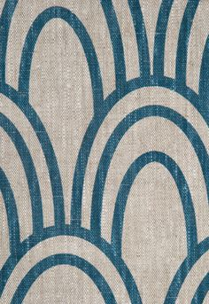 Studio Bon - Prussian (color)  Wonderful linen fabric. May pair this with paisley for master bed duvet.
