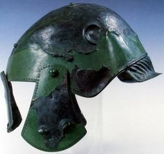 Dacian(?) helmet, Romania  What the fuck is this abomination ~ Curators Notes