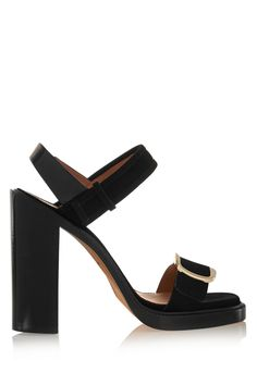 Givenchy | Buckled sandal in black suede | NET-A-PORTER.COM