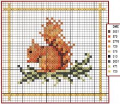 Obsessive Craft: squirrel, cute, animal, sincap cross stitch, xstitch, point de croix, punto cruz, diy, handmade, çarpı işi, etamin, needlework
