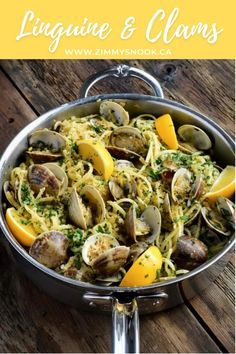 Linguine and clams (or linguine alle vongole) is a classic worth revisiting, over and over! Simple, inexpensive ingredients, shown a little love in preparation will deliver a soul satisfying meal every time. #pastarecipe #clams #easypasta #linguinerecipes @HestanCulinary @HestanHome #hestan Linguine Recipes, Pasta Recipes, Cooking Recipes, Seafood Platter, Seafood Pasta, Linguine And Clams, Lunches And Dinners, Meals, Clam Recipes