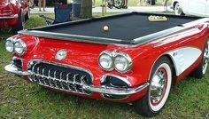 Busch Billards: Für Oldtimer-Fans ist der Corvette Billardtisch ein Hingucker    #billard