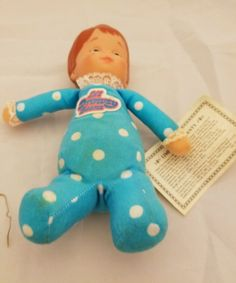 Vintage Mattel 1982 Lil Drowsy Beans Doll Blue Nap time 5736 *H in Dolls & Bears, Dolls, By Brand, Company, Character | eBay
