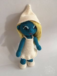 This is a Crochet Pattern Smurfette Amigurumi - pdf file . Size is approximately 25 cm. Supplies: The pattern uses 2&0.85mm hook and Microfiber Acrylic yarn. Copyright © 2016 All patterns are protected by international copyright laws and are intended fo