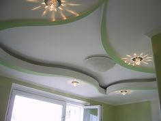 Large catalog for plaster designs for false ceilings for all rooms in modern style 25 modern plaster ceiling designs with integrated LED ceiling lighting systems to inspire you Plaster Ceiling Design, Interior Ceiling Design, Pop False Ceiling Design, Ceiling Light Design, Ceiling Decor, Ceiling Lights, House Ceiling Design, Ceiling Design Living Room, Bedroom False Ceiling Design