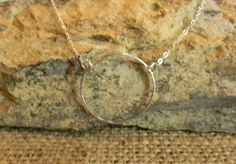 ' Hand Forged Sterling Silver Circle Necklace' is going up for auction at  6pm Fri, Nov 2.