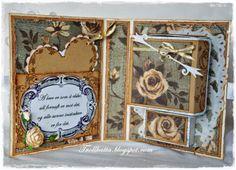 Vintage Tea Light Card Vintage Te Lys Kort Vintage Tea, Tea Lights, Scrap, Paper, Frame, Cards, Inspiration, Decor, Picture Frame