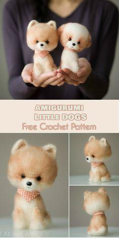Amigurumi Little Dogs [Free Crochet Pattern] #crochet #lovecrochet #freepattern #amigurumi