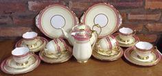 Royal Albert Pink, Cream and Gilt 28 Piece Tea Set in Pottery, Porcelain & Glass, Porcelain/ China, Royal Albert, Tableware | eBay
