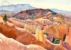 Bryce Canyon, art by Glen Knowles – California Watercolor