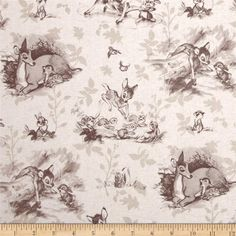 Disney Bambi Toile Sepia from @fabricdotcom  Designed by Disney and licensed to Springs Creative Products, this cotton print fabric is perfect for quilting, apparel and home decor accents. Colors include shades of sepia and tan on a cream background. Due to licensing restrictions, this item can only be shipped to USA, Puerto Rico, and Canada.