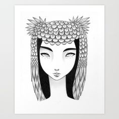 Owl II Art Print by Elena Mir | Society6