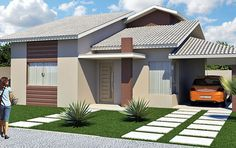 Beautiful House Plans, Beautiful Homes, 3d Home, Autocad, Habitats, 3 D, Entrance, My House, Sweet Home