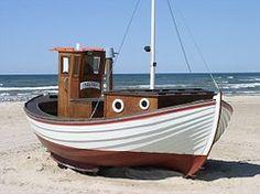 Barco De Pesca, Dinamarca, Praia, Mar