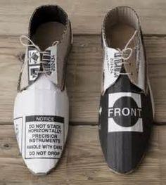 re-purposed cardboard shoes