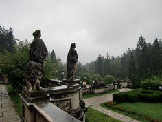 Sinaia, Romania, Peles Castle garden