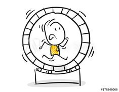 Strichfiguren / Strichmännchen: Hamsterrad, Teufelskreis. (Nr. 146) – kaufen Sie diese Vektorgrafik und finden Sie ähnliche Vektorgrafiken auf Adobe Stock Visual Note Taking, Doodle People, Envelope Art, Hamster, Sketch Notes, Illustrator, Diy Crafts Hacks, Cool Sketches, Stick Figures