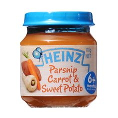 Heinz Parsnip Carrot and Sweet Potato Baby Food Heinz Baby, Sweet Potato Baby Food, Online Supermarket, Gerber Baby, Baby Food Recipes, Soda, Carrots, Brother, Label
