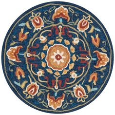 "Interior HomeScapes offers the Francesca Collection - Blue / Spice - 3'-0"" x 3'-0"" Round by Loloi Rugs.  Visit our online store to order your Loloi Rugs products today."